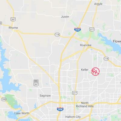 DFW Garden Nursery Map