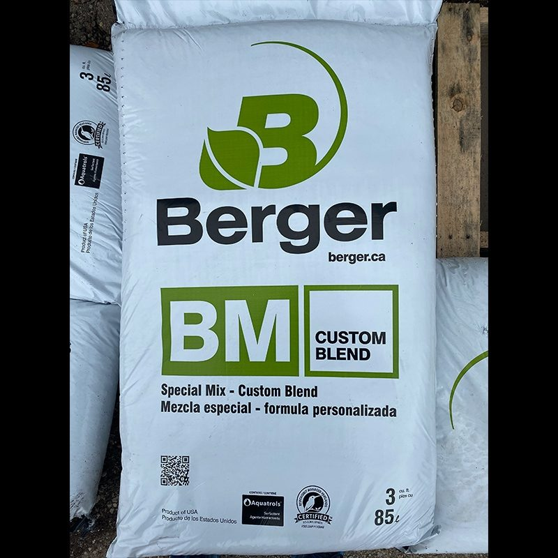 Berger potting mix bag custom blend