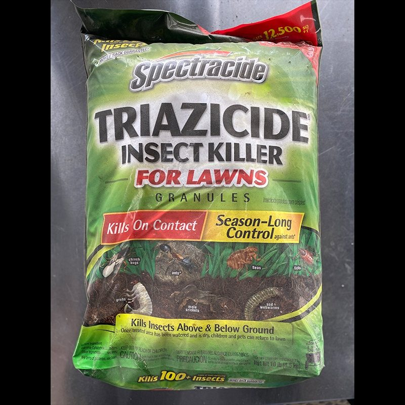 Triazicide insect killer bag granules